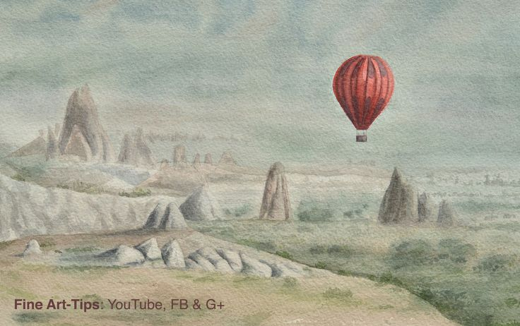 How to Paint a Hot Air Balloon in Watercolor #art #painting #FineArtTips #watercolor #landscape #hotairballoon #tutorial #Tutto3 #artistleonardo #LeonardoPereznieto  Take a look to my book here: http://www.artistleonardo.com/#!ebooks-english/cswd