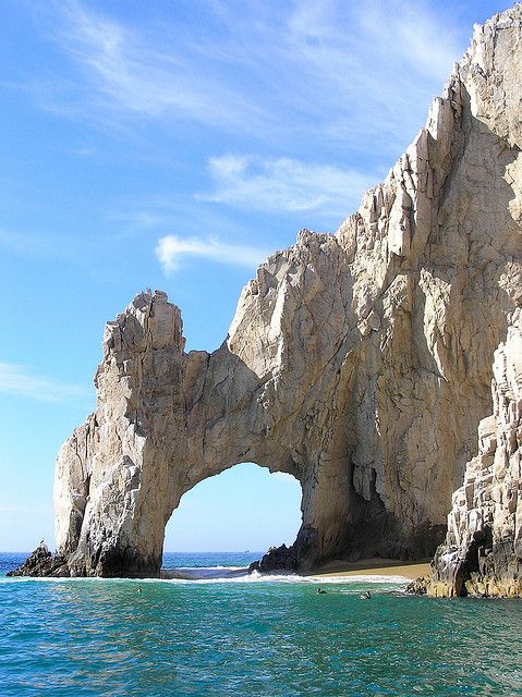 """""""El Arco - Playa del Amor, Cabo San Lucas,"""" by twiga_swala, via Flickr -- """"The Arch is the most spectacular rock formation at Lover's Beach, formerly known as Playa de Doña Chepa. The place is only accessible by sea and, besides the beauty of the beach and the rock formations, it is remarkable for being the place where the Sea of Cortez meets the Pacific Ocean."""" [NOT the same """"Playa del Amor"""" on the pin here: http://pinterest.com/pin/175218241723564834/]"""