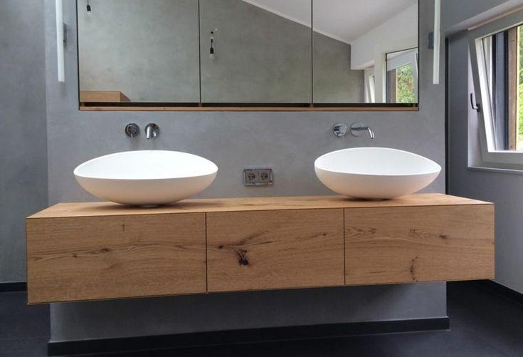 Waschtisch mit zwei Waschbecken