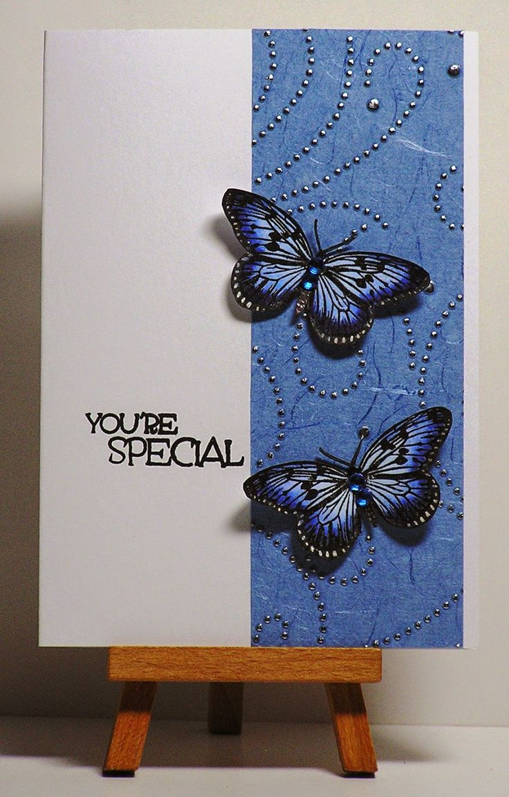 Cathys Card Spot: Butterflies with designer paper
