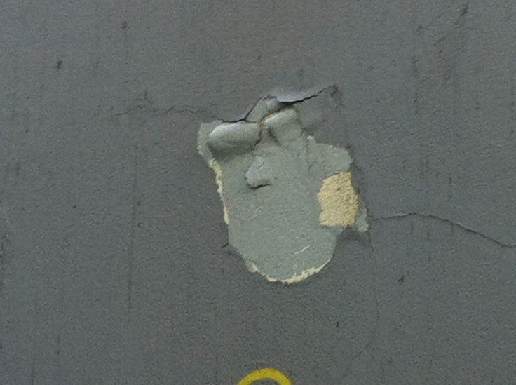 peeling paint face near MacCurtain Street, Cork