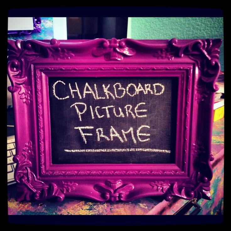 Tutorial: Chalkboard Picture Frame ~ DIY Craft Riot