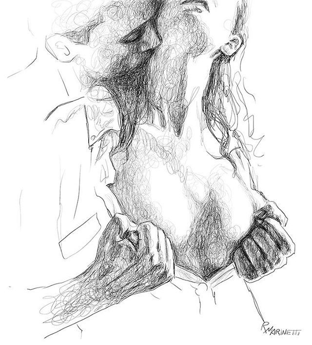 I'd like to get the privilege to savor your skin, slowly... moving my lips over your reddish curves... my cheeky tongue into your shy angles... kissing your eyelids, softly... so softly... #drawing #sensualart #couple #disegno #sexycouple #sketch #sketchbook #scrabbles #scribbleart #sensual #luilei #blackandwhiteartwork #lineart #erotismo #coppia #eroticdrawing #erotique #raffaelemarinetti #doodleart #herandhim