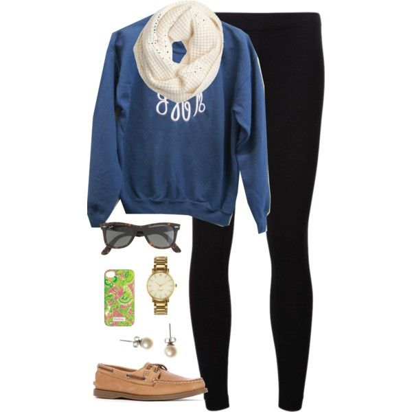 A fashion look from February 2014 featuring James Perse leggings, Sperry Top-Sider shoes and Kate Spade watches. Browse and shop related looks.