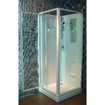 Cabine de douche CONCERTO 80 x 80 cm accès de face porte pivotante - ALTERNA - Sanitaire -CEDEO