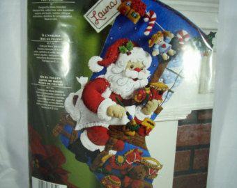 Bucilla Felt Christmas Stocking Kit Gingerbread by DreamerLane