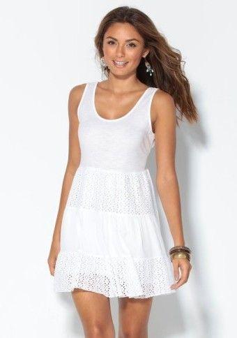 Šaty so švajčiarskou výšivkou #Modinosk