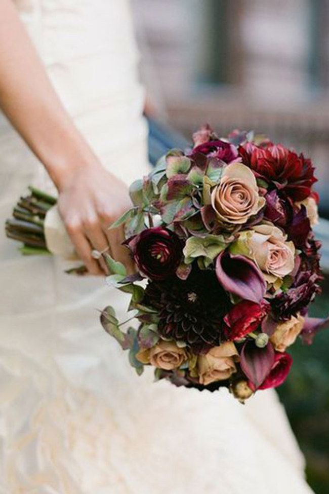 Autumn Wedding Flowers: Bouquet Inspiration. For more ideas, click the picture or visit www.sofeminine.co.uk