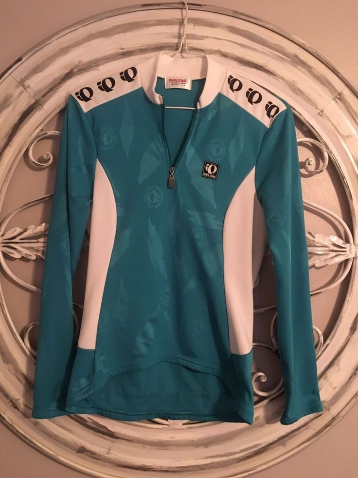 Pearl Izumi Women's Performance cycling half zip pullover jacket Aqua SIZE 8  | eBay