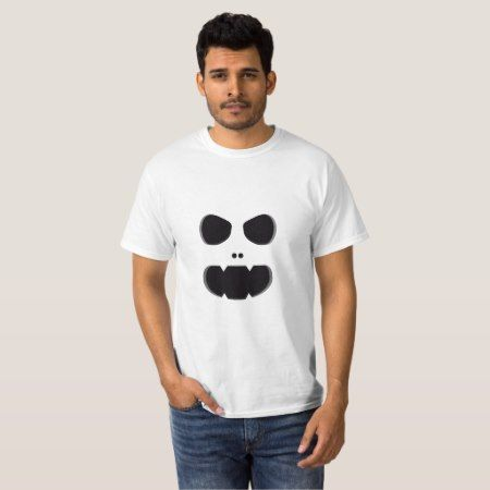 Ghost Monster Face T-Shirt - tap, personalize, buy right now!
