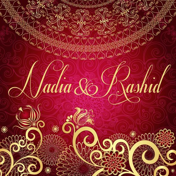 Set of 25 Customizable Indian Wedding Invitations