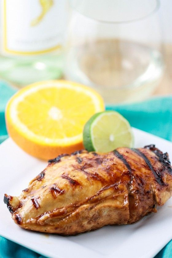 Pinot Grigio Chicken with Honey Citrus Glaze (easy on the grill or on a grill pan)