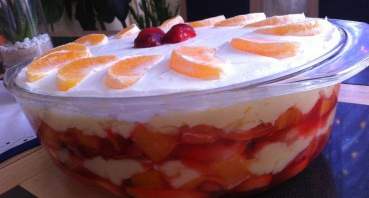 Gyümölcsös - Babapiskótás rakott süti recept | APRÓSÉF.HU - receptek képekkel