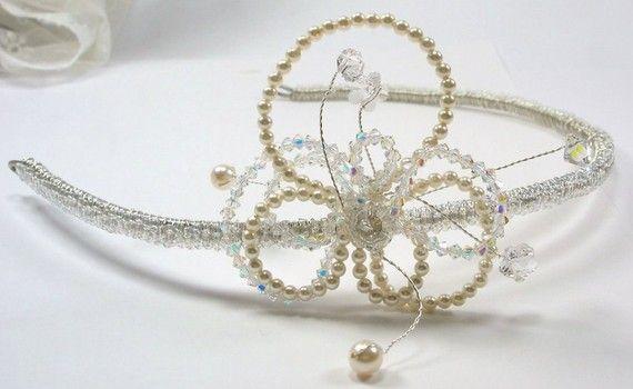 Dee Handmade Tiara  1920's Vintage Bridal Inspired by SLCDesignsUK, $195.00