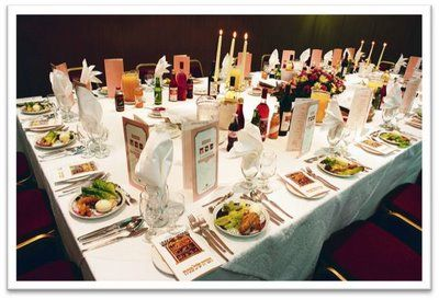 Passover seder meal table setting.  Looks amazing