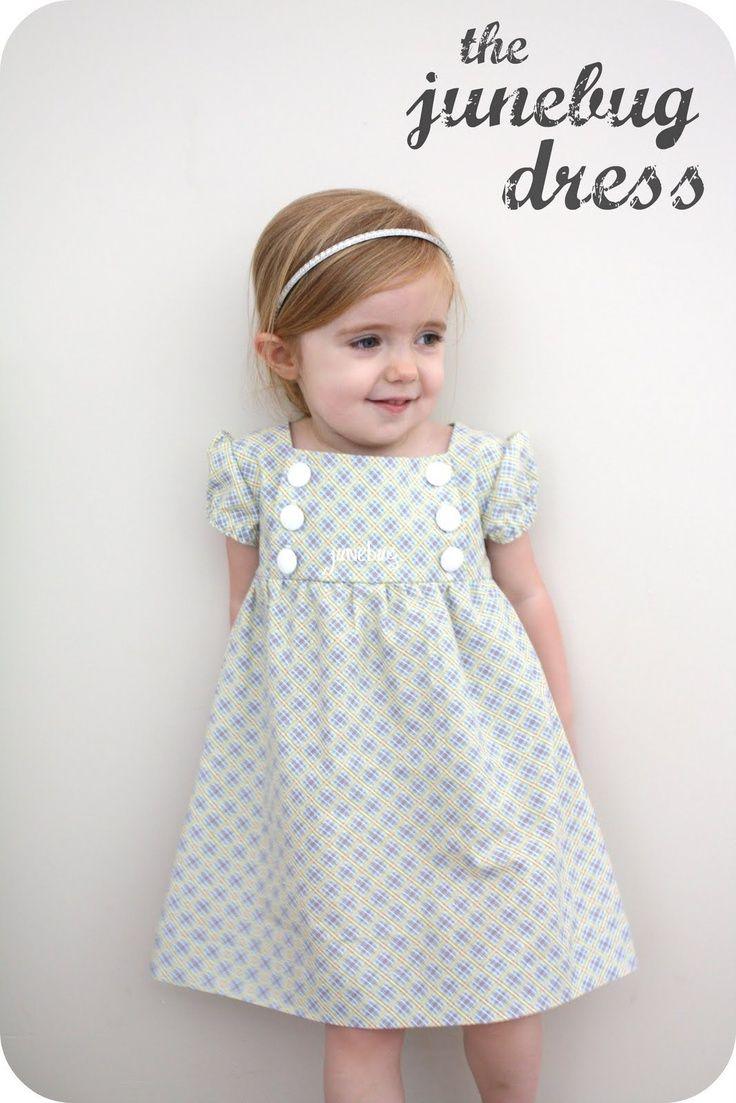 Adorable little dress. FREE pattern.