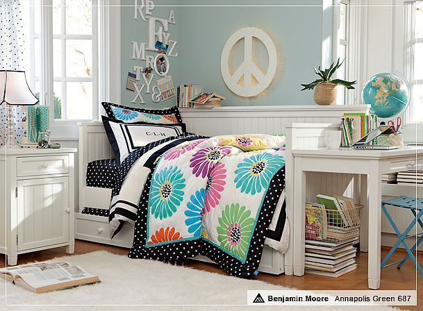Calm and peaceful i would replace the peace sign with a Tween girl room decor