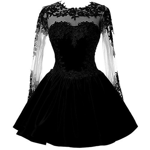 CuteShe Women's Short Lace Homecoming Prom Dresses with L...
