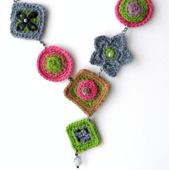 Crochet  Necklace  Y Shape Necklace  by CraftsbySigita on Etsy, $24.00