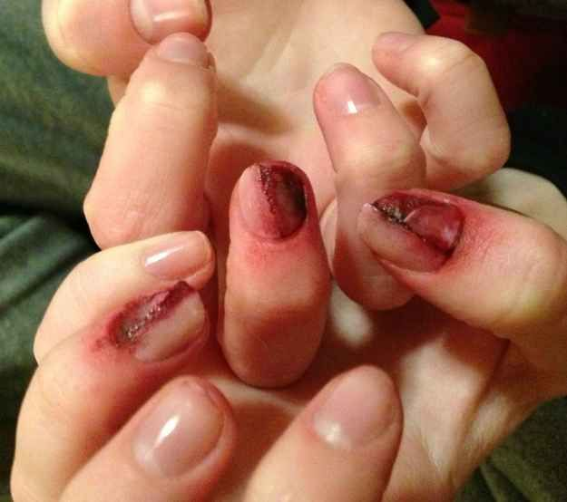 Gory Nails | 25 Clever Nail Ideas For Halloween