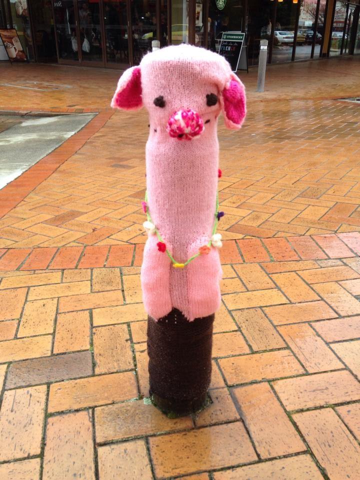 "Rotorua City Focus Bollards 2015 ""Wet Miss Piggy"""