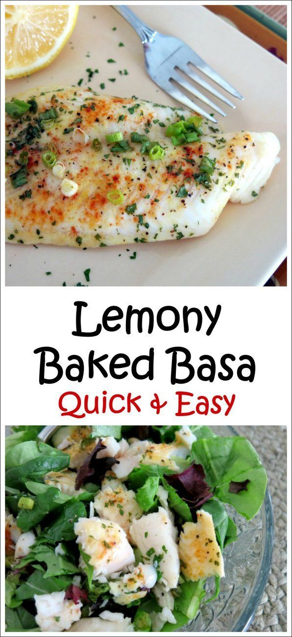 Lemony Baked Basa - a quick and easy recipe that is spectacular flaked into fish tacos or over salad greens too!
