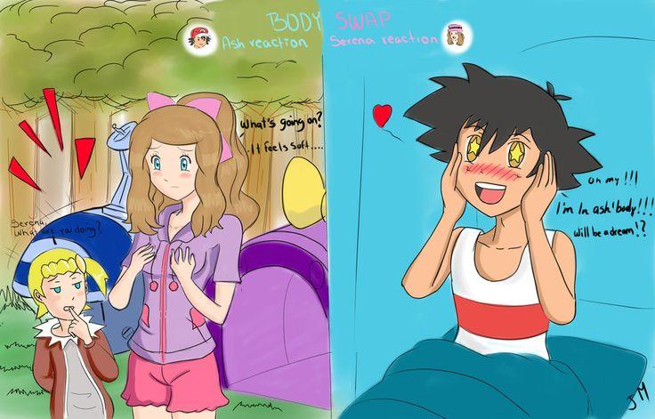 Request :Body swap :Ash and Serena by superjetjohn117 on DeviantArt