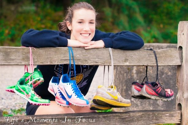 Senior Portrait / Photo / Picture Idea - Cross Country / Track - Girls - Cleats / Shoes
