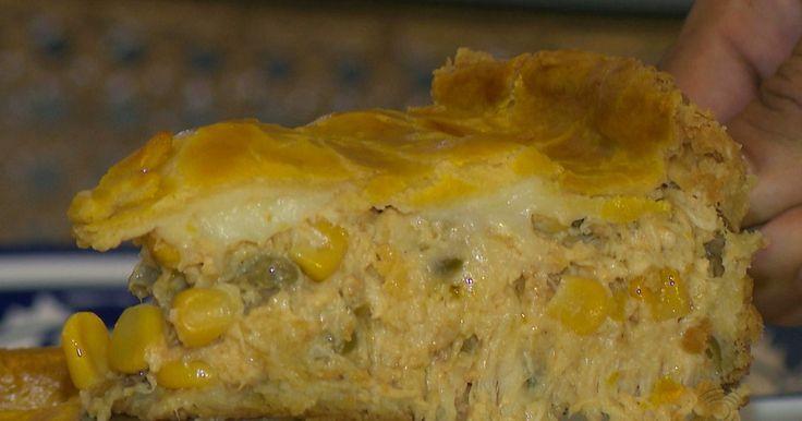 Chef JPB ensina receita de torta de frango preparada por telespectadora