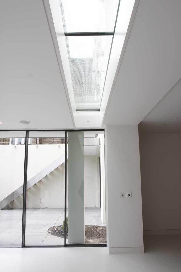 An IQ Glass walk on rooflight was situated above the Minimal Windows