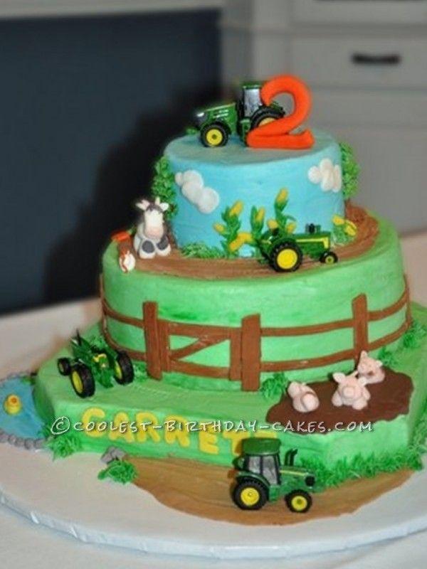 Farming Scene Birthday Cakes