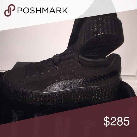 Rihanna Fenty Pumas All black Rihanna Fenty Pumas for sale. I got them off the Puma website a couple of months ago. Puma Shoes Sneakers