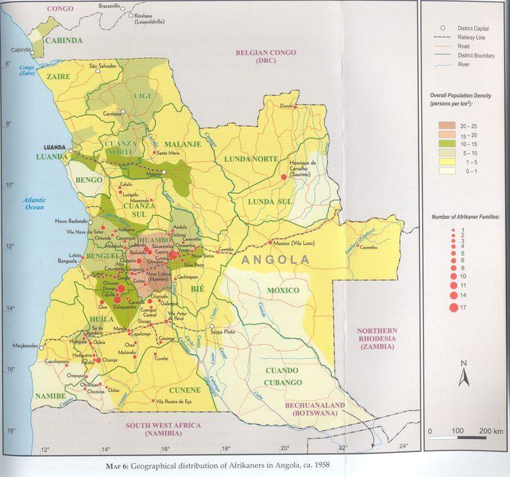 Distribution of Dorsland Boere in Angola