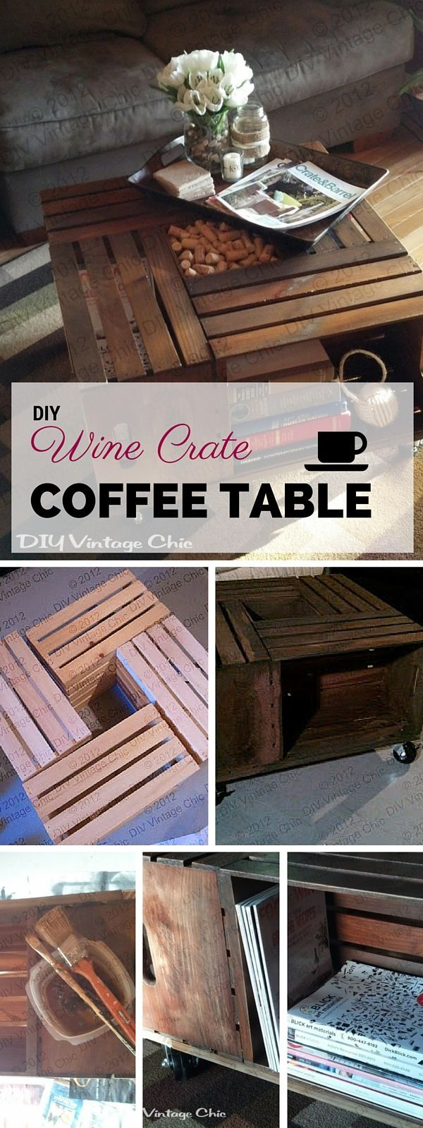 Best 25 wine crate coffee table ideas on pinterest diy crate diy furniture check out the tutorial diy wine crate coffee table rustic geotapseo Images