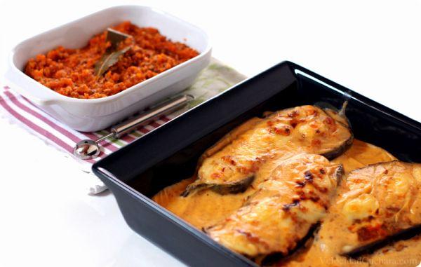 Berenjenas rellenas de salsa Boloñesa