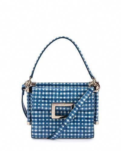 377b46e3c1 ROGER VIVIER Miss Viv Carre Mini Gingham Shoulder Bag.  rogervivier  bags  shoulder  bags  hand bags  leather