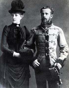 L'archiduc Rodolphe d'Autriche et la princesse Stéphanie de Belgique son épouse
