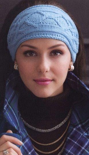 Вязание повязки на голову: