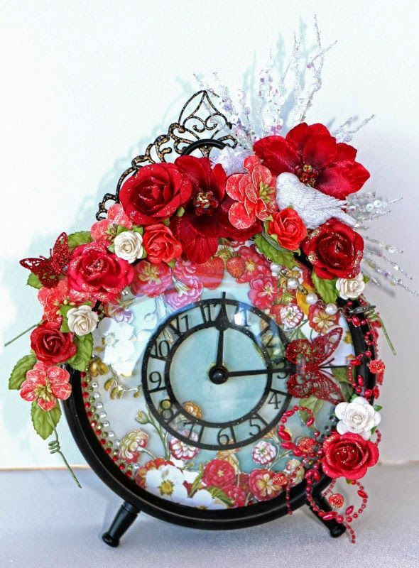 An Altered Clock and a Love Tag   Imaginarium Designs   Bloglovin'