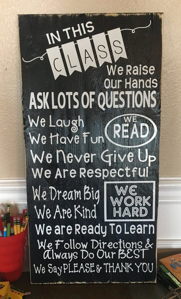 Classroom Rules Decor ~ The best classroom signs ideas on pinterest clever