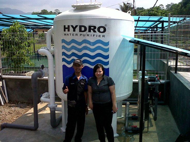 Fiter Penyaring air Hydro STN 20 ini di pasang di daerah bogor, di rumah Bapak Yusuf Manggabarani. Filter Penjernih air STN 20 di gunakan untuk keperluan penyaringan air kolam ikan KOI Air bakunya di ambil dari air sungai yang terletak di belakang pekarangan rumah Kondisi air sungainya  keruh dan kuning, serta bau besi. Namun setelah menggunakan Hydro air sungai tadi menjadi standart air bersih dan layak digunakan untuk memelihara ikan.