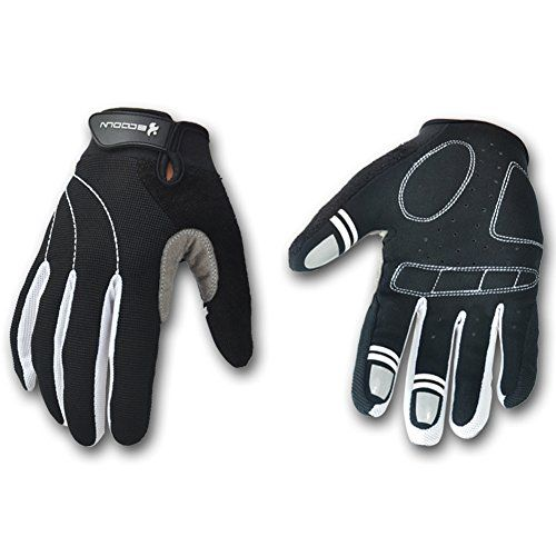 Mifulgoo BDFGF-E Man Woman Anti-Skid Full Finger Breathable Gloves for Cycling Motorcycle Skate Skateboard Roller Skating (S, Black White) #fitness #shop
