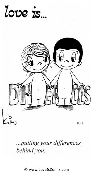Liebe ist... die Differenzen hinter sich zu lassen! <3 <3 <3