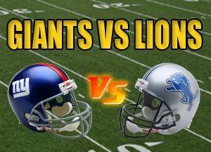 New York Giants vs Detroit Lions NFL Live Stream