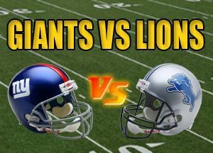 New York Giants vs Detroit Lions NFL Live Stream