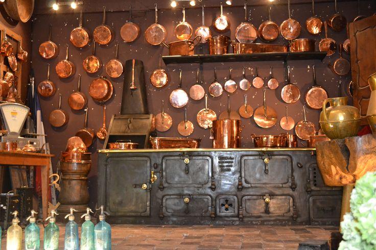 Vintage copper pots from a Paris Flea Market. So Beautiful!  동제품  Pinterest