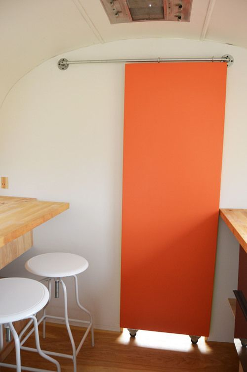 Another sliding door. Great for adding a splash of color!