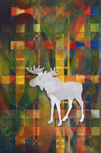 "'Moose On The Loose 2' by Uxbridge Ontario artist Lynn Bishop. ""I love to…"