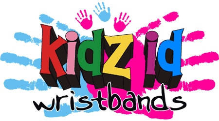 """""""Kidz ID"""" wristbands are available in packs of 10, 30 or 50"""