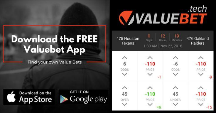 NFL Week 10 Monday Night Football Valuebet App Sports betting tip: Houston Texans @ Oakland Raiders